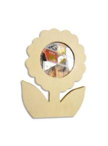Fleur miroir en carton à décorer 10x14cm