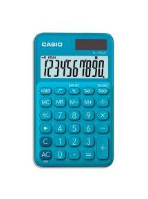 Calculatrice de poche Casio 10 chiffres bleue