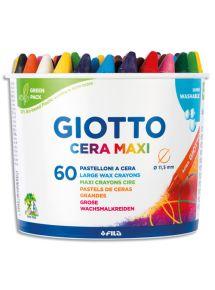 Pot de 60 craies à la cire Giotto Maxi