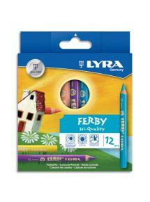 Etui de 12 crayons de couleur triangulaires Ferby