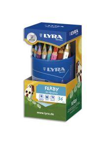 Pot de 36 crayons de couleur triangulaires Ferby