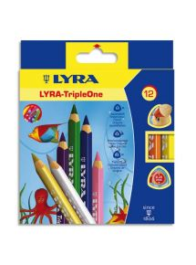 Etui de 12 crayons de couleur gros module Triple One