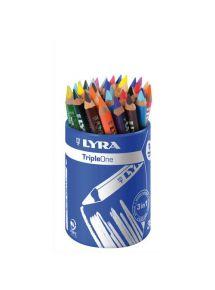Pot de 36 crayons de couleur gros module triangulaire Triple One