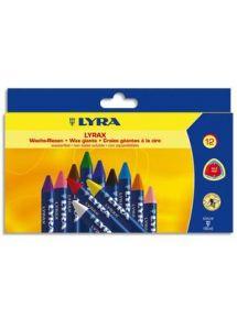 Etui de 12 craies à la cire géantes Lyrax