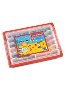 Schoolpack de 96 crayons de couleur Trio, gros module
