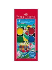 Boîte de 12 pastilles de gouache Faber Castel