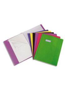 Protège-cahier 17x22 cm, grands rabats, vert