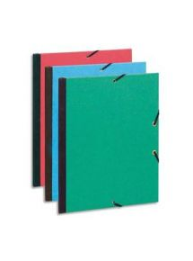 Carton à dessin couleur à élastiques format 26x33 cm
