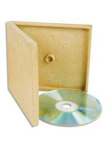 Boîte en carton à décorer pour rangement 1 CD 130x145x12mm