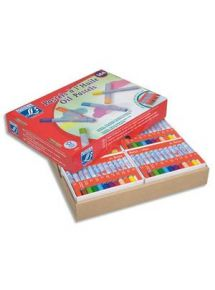 Schoolpack de 144 pastels à l'huile, (12 barquettes de 12)