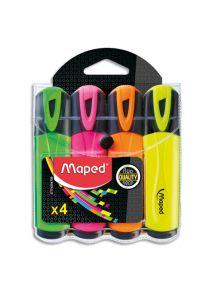 Surligneur Fluo Peps Classic, pochette de 4 couleurs assorties standards